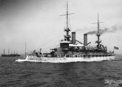 http://www.history.navy.mil/danfs/k2/kearsarge-ii.htm USS Kearsage underway during the early 1900s